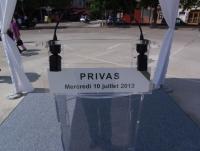honneurs militaires rendus le 10 juillet 2013 à Privas (07) aux trois gendarmes récemment disparus