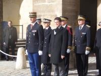 Le 17 février 2014 - L'AAMFG conviée aux invalides à l'hommage aux morts de la gendarmerie.