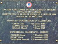 L'AAMFG conviée à l'hommage rendu aux gendarmes de Bellegarde en Marche déporté en juillet 1944